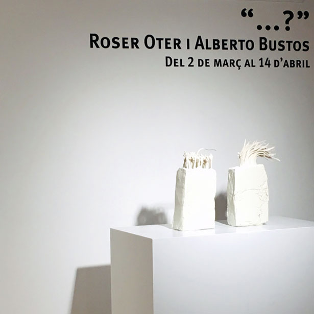 """Inauguració A Quart De L'exposició """"…?"""", D'Alberto Bustos I Roser Oter"""