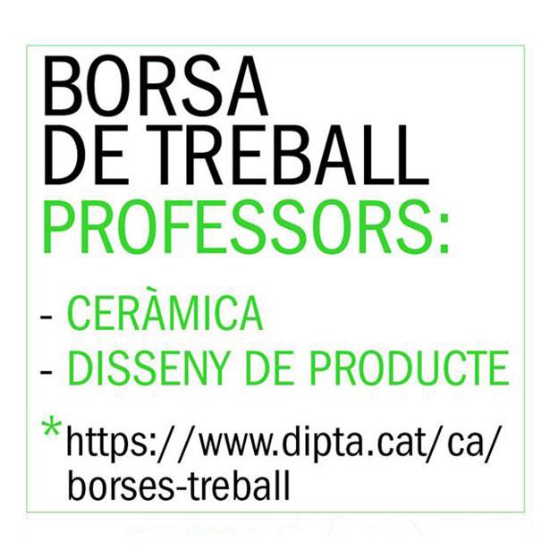BORSA DE TREBALL De PROFESSOR De CERÀMICA