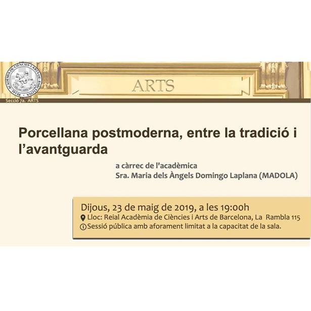 Conferència: Porcellana Postmoderna, Entre La Tradició I L'avantguarda