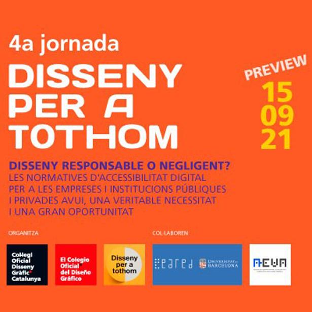 4a Jornada DISSENY PER A TOTHOM