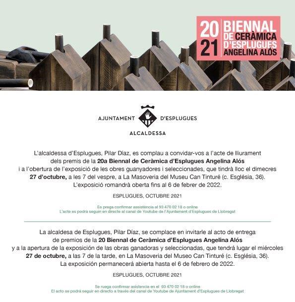 Lliurament De Premis I Exposició Biennal D'Esplugues 2021