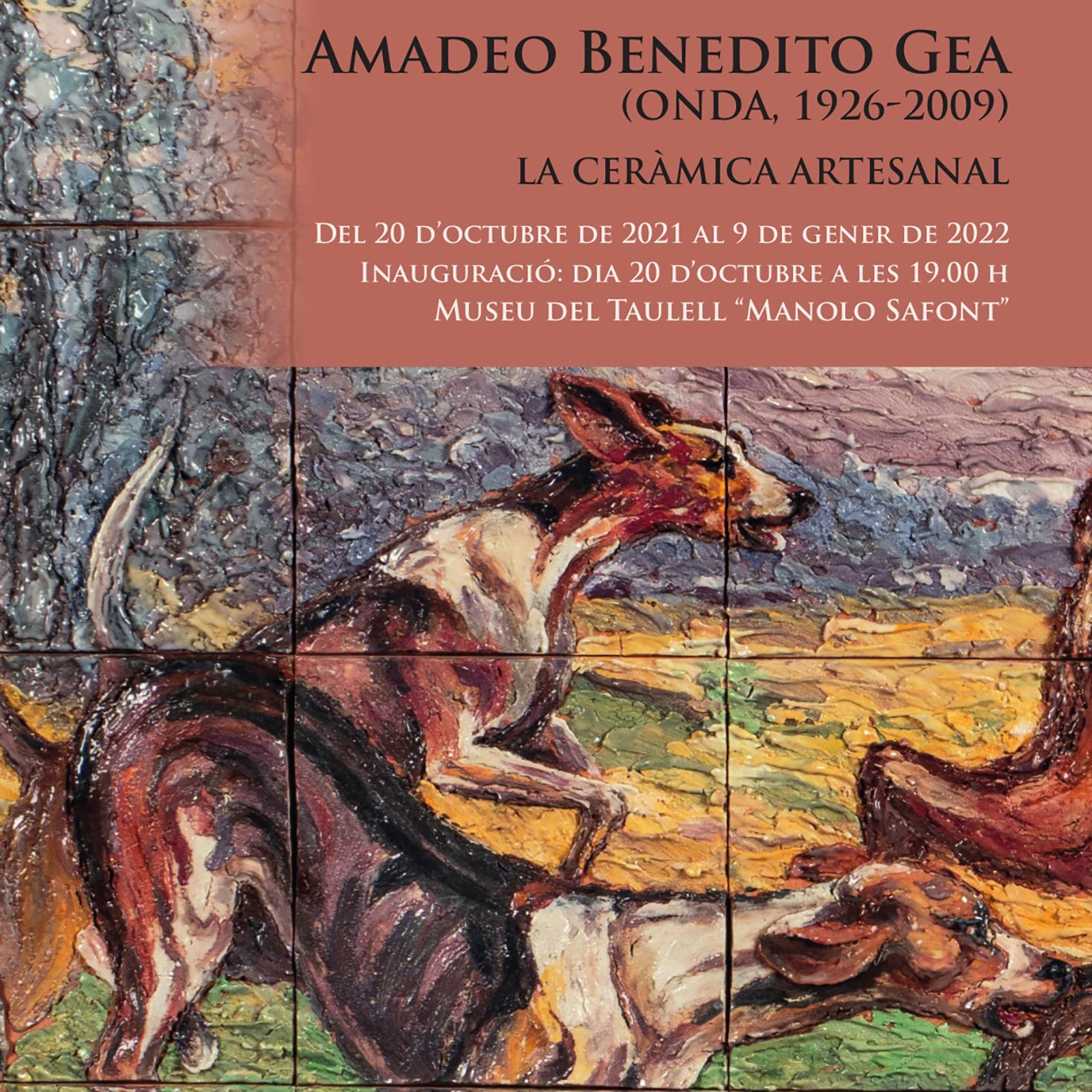 AMADEO BENEDITO GEA. LA CERÀMICA ARTESANAL