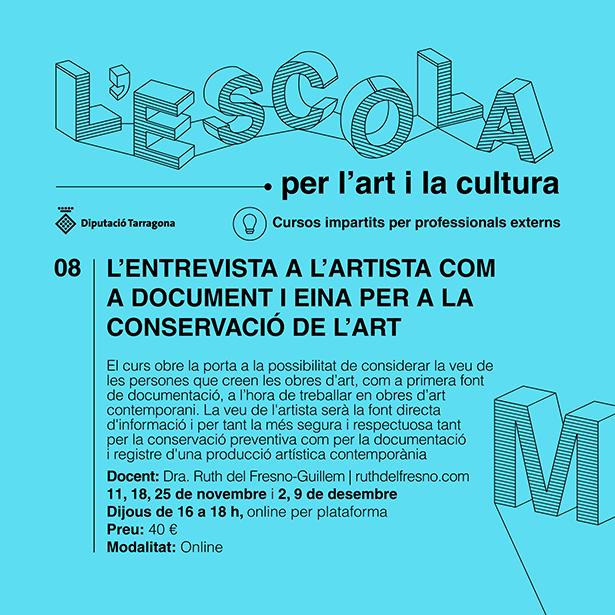 L'ENTREVISTA A L'ARTISTA COM A DOCUMENT I EINA PER A LA CONSERVACIÓ DE L'ART Curs 2021/22